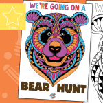 We're Going On A Bear Hunt – Window Poster & Colouring Activity