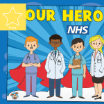 Our NHS Heroes – Window Poster & Colouring Activity