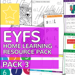 Early Years EYFS Home Learning Resource Pack 3