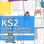 Upper Key Stage Two KS2 Home Learning Resource Pack 3