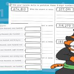 6 Digit Partitioning Activity Sheets