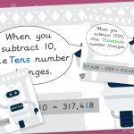 Subtract from 6 digits Poster Pack