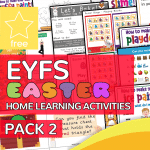 Early Years EYFS Easter Home Learning Activity Pack 2