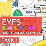 Early Years EYFS Easter Home Learning Activity Pack 1