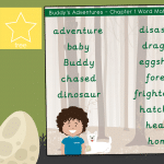 TEACHREX Buddy's Adventures Chapter 1 – Word Mat