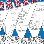 VE Day – Bunting Flags Colouring