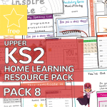 Upper Key Stage Two KS2 Home Learning Resource Pack 8