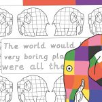 Elmer Mindful Colouring – The World Would be a Boring Place