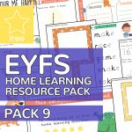 Early Years EYFS Home Learning Resource Pack 9