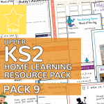 Upper Key Stage Two KS2 Home Learning Resource Pack 9