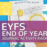 EYFS Early Years End of Year Journal Activity Pack