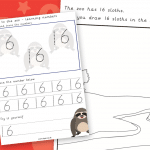 Trip To The Zoo Number 16 Number Formation Writing Practise