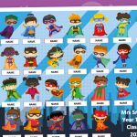Editable Class Of 2020 End Of Year Gift (Superheroes)