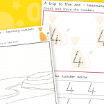 Trip To The Zoo Number 4 Number Formation Writing Practise