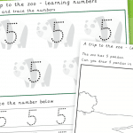 Trip To The Zoo Number 5 Number Formation Writing Practise