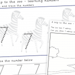 Trip To The Zoo Number 7 Number Formation Writing Practise