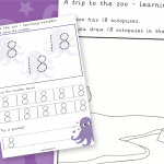 Trip To The Zoo Number 18 Number Formation Writing Practise