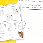 Trip To The Zoo Number 19 Number Formation Writing Practise
