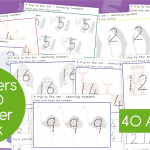 Trip To The Zoo Numbers 1-20 Number Formation Writing Practise