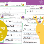 Key Stage 1 Week 3 Handwriting Practice Pack