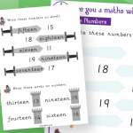 Year 2 Teen Numbers Maths Whizz Activity