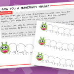 Key Stage 1 Caterpillar Addition Numeracy Ninja Game