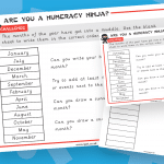 Key Stage 1 Months Of the Year Numeracy Ninja Activity