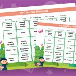 Editable Timetable Fairy Tale Theme