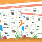 Editable Timetable Finding Nemo Theme