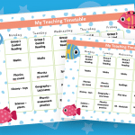 Editable Timetable Fish Theme