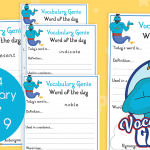 Vocabulary Genie Word Of The Day Year 4 Week 9