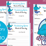 Vocabulary Genie Word Of The Day Year 4 Week 10