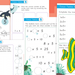 5 Times Tables Activity Worksheet Pack