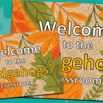 Editable EYFS And KS1 Autumn Door Sign