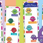 Emotion Monsters Bookmarks