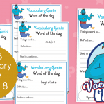Vocabulary Genie Word Of The Day Year 6 Week 8
