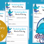 Vocabulary Genie Word Of The Day Year 6 Week 9
