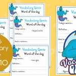 Vocabulary Genie Word Of The Day Year 6 Week 10