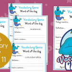 Vocabulary Genie Word Of The Day Year 6 Week 11