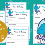 Vocabulary Genie Word Of The Day Year 6 Week 12