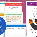 Year 5 Week 5 Spelling Practice Pack