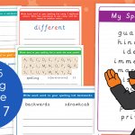 Year 5 Week 7 Spelling Practice Pack