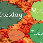 Autumn Leaves Days of the Week