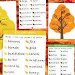 Autumn Colour Synonym Tree Mats