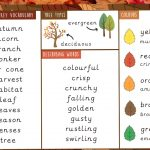 Autumn Vocabulary Word Mat