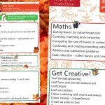 Autumn Curriculum Ideas Map