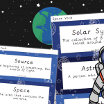 Space Vocabulary And Definition Cards