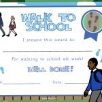 Walk to School Certificate