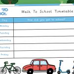 My Walk to School Timetable