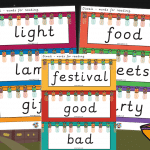 Diwali Words For Reading Cards